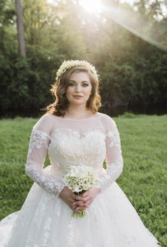 3D floral wedding dress