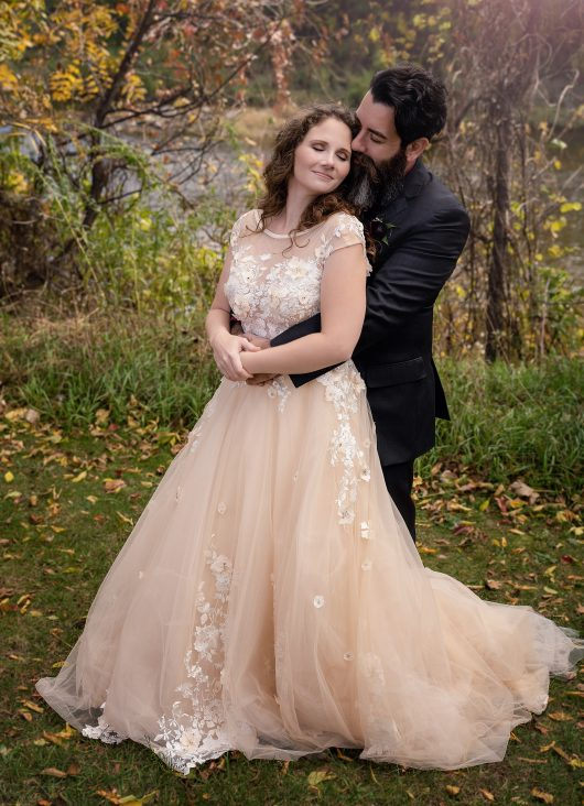 Champagne Wedding Dress by Brides & Tailor