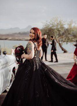 Black wedding Dress gothic